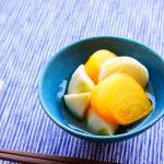 anan連載【旬を味わう♡美人レシピ♪】vol.42「柿とカブの紅白なます」
